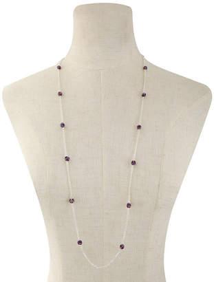 Liz Claiborne Womens Purple Strand Necklace