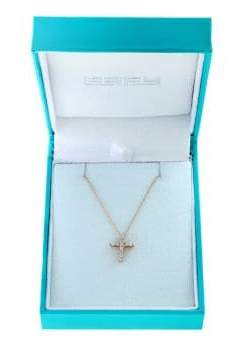 Effy Super Buy 15K Rose Gold and Diamonds Cross Pendant Necklace