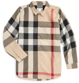 Burberry 'Mini Camber' Check Long Sleeve Shirt