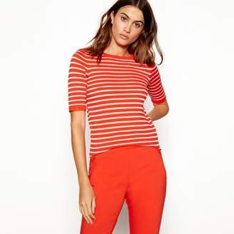 J by Jasper Conran Red Stripe Print Knit T-Shirt