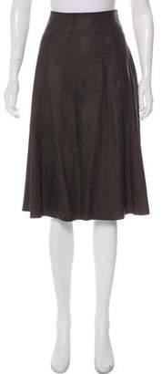 Elizabeth and James Knee-Length Leather Skirt