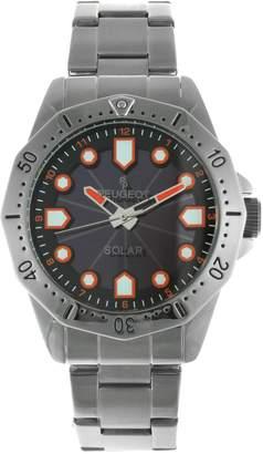 Peugeot Men's Stainless Steel Solar Powered Bracelet Watch