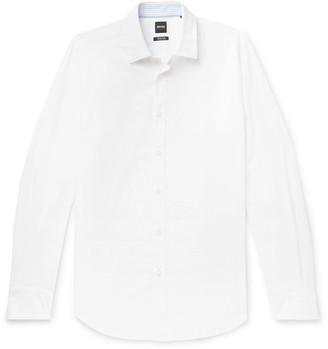 HUGO BOSS Lukas Cotton and Linen-Blend Shirt - Men - White