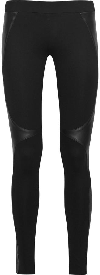 Helmut Lang Leather insert leggings
