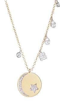 Meira T 18K Gold& Diamond Celestial Necklace