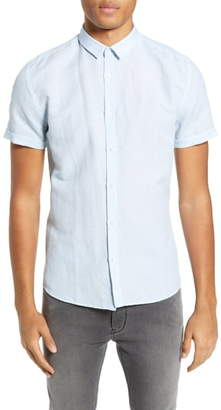 HUGO Empson Slim Fit Linen & Cotton Woven Shirt