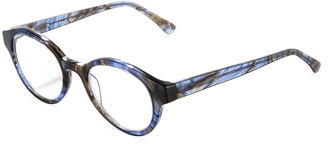 A. J. Morgan Groomed Round Acetate Readers, Blue Multi $36 thestylecure.com