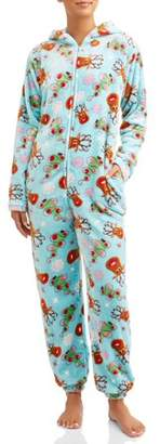 Body Candy Women's So Deerly Union Suit Sleepwear
