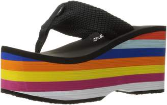 Rocket Dog Women's Bigtop Webbing with Rainbow Eva Flip Flop