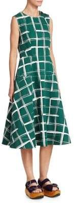 Marni Check Midi Dress