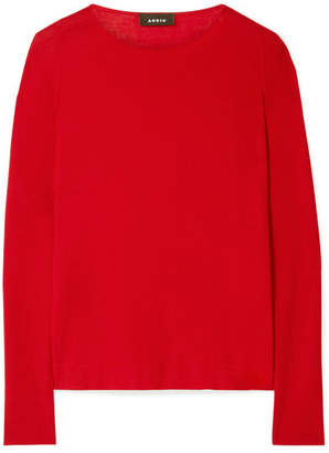 Akris Cashmere And Silk-blend Sweater - Red