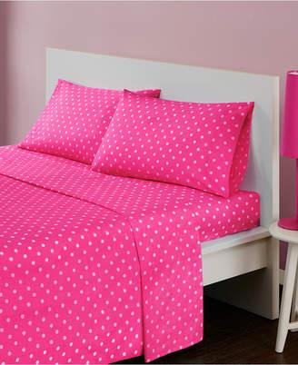 Jla Home Mi Zone Polka Dot 4-pc Full Cotton Sheet Set Bedding