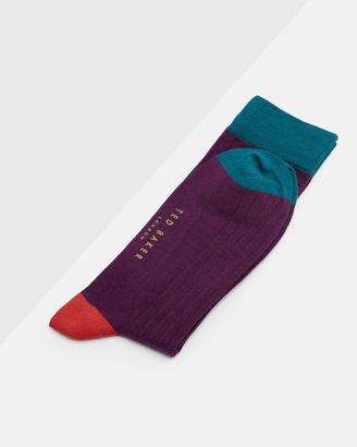 Colour block socks $15 thestylecure.com