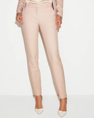 Express Mid Rise Waffle Pique Skinny Columnist Pant