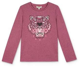 Kenzo Girls' Long Sleeve Tiger Tee - Little Kid