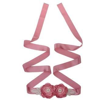 Fityle Bridal Wedding Sash Ribbon Flower Belt Waist Belt Fancy Dress
