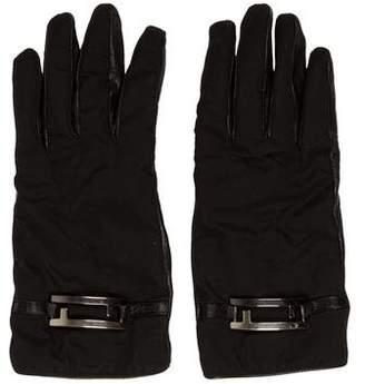 Fendi Wool & Leather Gloves