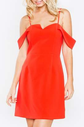 Sugar Lips Sugarlips Red Off-Shoulder Dress