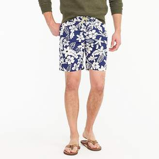 """J.Crew 9"""" Board Short In Blue And White Floral"""