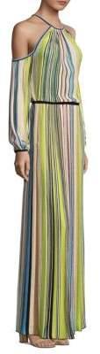 Missoni Striped Cold Shoulder Gown