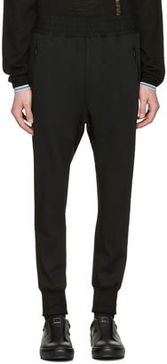 Wooyoungmi Black Fleece Wool Lounge Pants $450 thestylecure.com