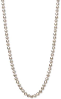 "Belle de Mer Cultured Akoya Pearl (6-6-1/2mm) 18"" Strand Necklace in 14k Gold"