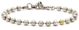 Title Of Work - Sterling Silver Ball Chain Bracelet - Mens - Silver Gold