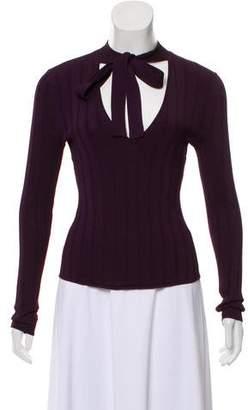 Intermix Knit V-Neck Sweater
