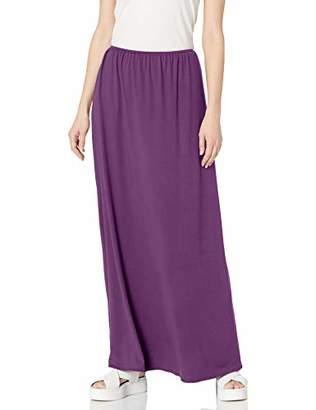 Star Vixen Women's Petite Modest Soft DTY Knit Pull-On Maxiskirt,PM