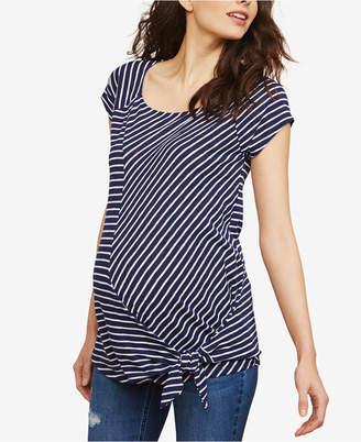 Motherhood Maternity Tie-Front T-Shirt