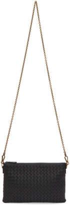Bottega Veneta Black Intrecciato Chain Pouch Bag