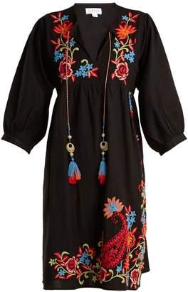 Emilie embroidered linen dress