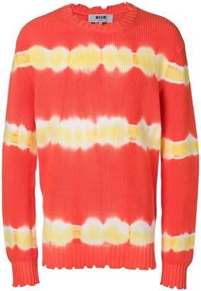 MSGM tie-dye knit jumper