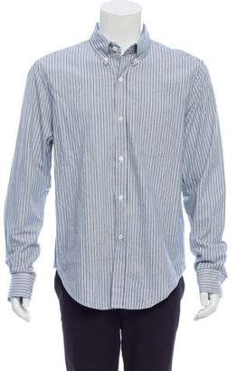 Band Of Outsiders Stripe Button-Up Shirt