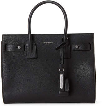 Saint Laurent Black Baby Sac De Jour Leather Tote
