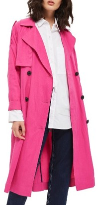 Women's Topshop Power Ballad Double Breasted Trench Coat $130 thestylecure.com