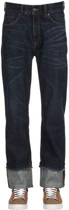 Burberry Raw Cut Straight Leg Denim Jeans