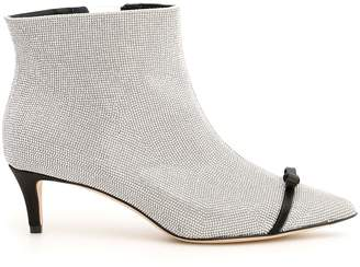 Marco De Vincenzo Ankle Boots With Micro Rhinestones