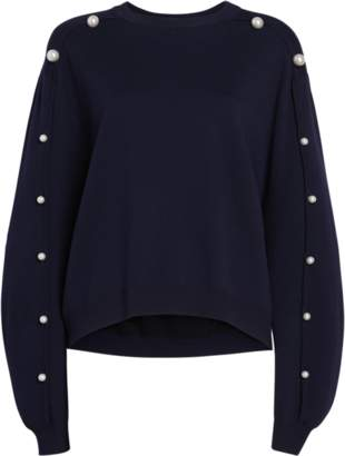 ADAM by Adam Lippes Wool Sweater with Pearl Buttons