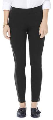 NYDJ Faux-Leather Trimmed Ponte Leggings