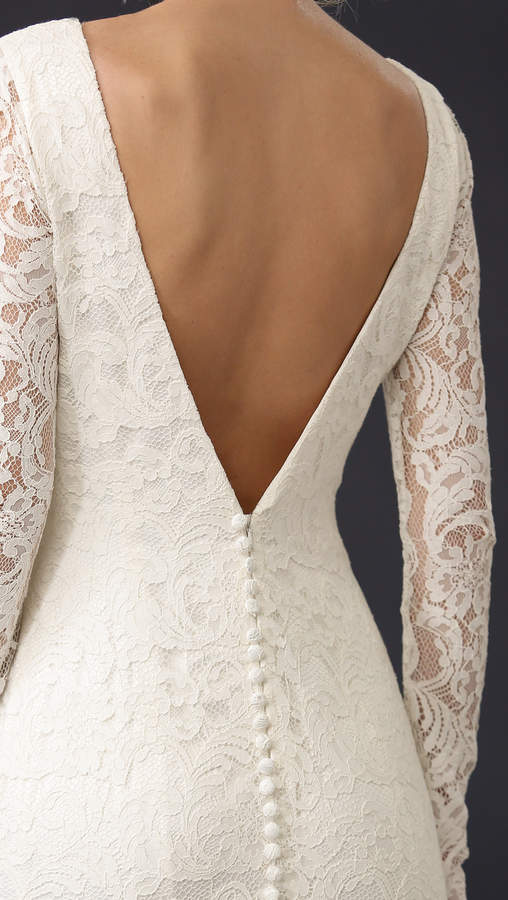 Theia Nicole Lace Gown 3