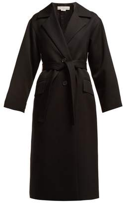 Golden Goose Single Breasted Wool Trench Coat - Womens - Black