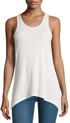 kensie Scoop-Neck Arched-Hem Tank, Ivory $28 thestylecure.com