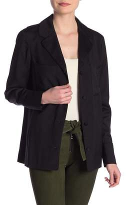 Frame PJ Woven Button Down Jacket