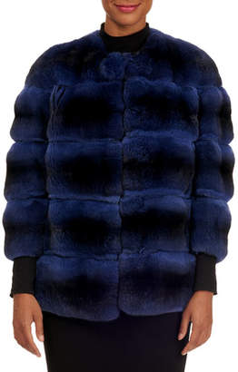 Gianfranco Ferre Horizontal Chinchilla Fur Jacket