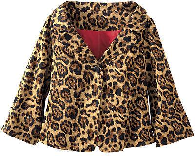 Leopard-print cropped jacket
