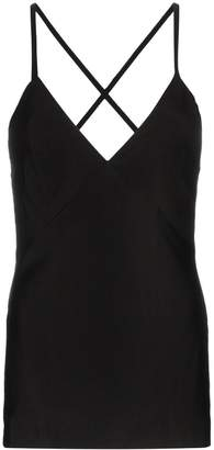 Haider Ackermann silk blend cross back cami top