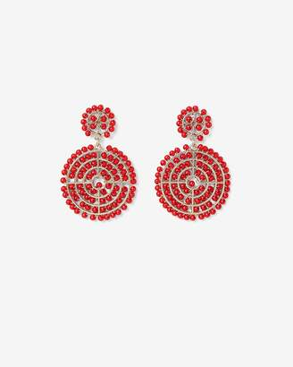 Express Beaded Double Circle Drop Earrings