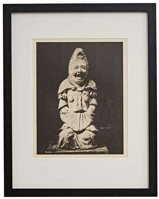 Rejuvenation Framed Photogravure of Chinese Sculpture