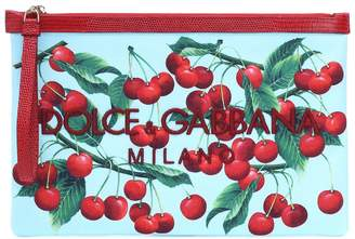 Dolce & Gabbana Exclusive to Mytheresa cherry printed embroidered pouch